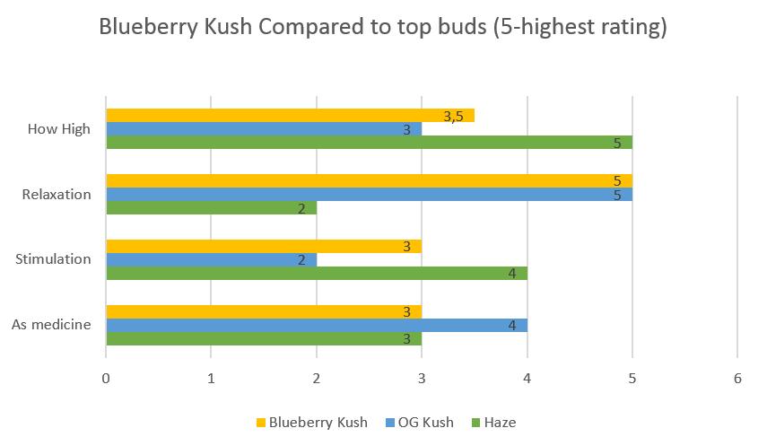 Marijuana Blueberry Kush strain effects