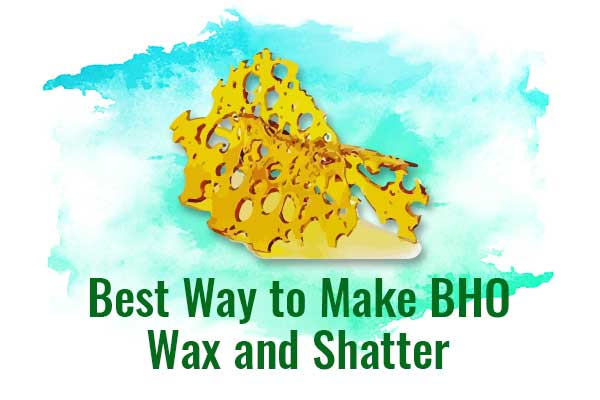 Best Way to Make BHO Wax and Shatter - NCSM