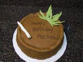 birthday weed cake