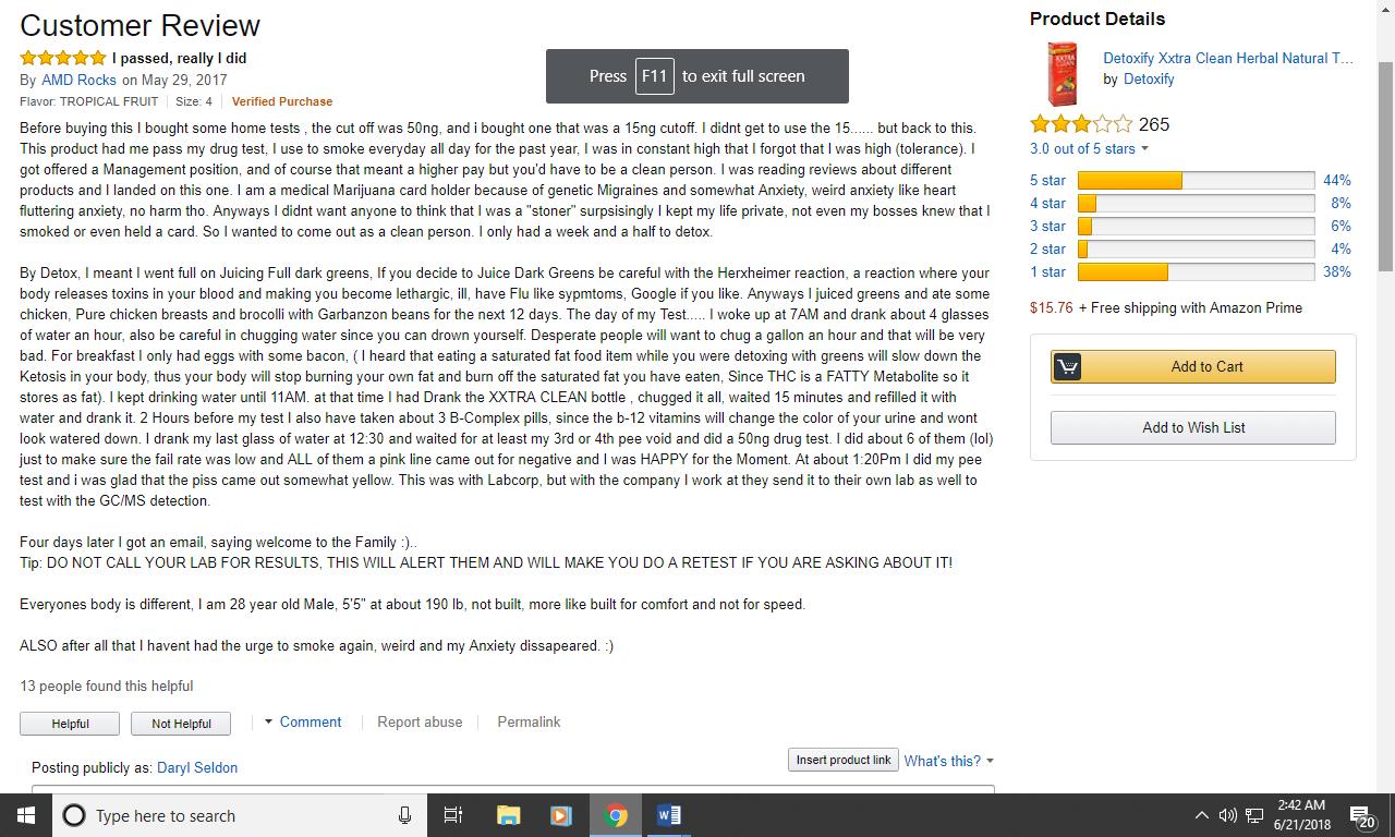 Positive Detoxify Xxtra Clean Review