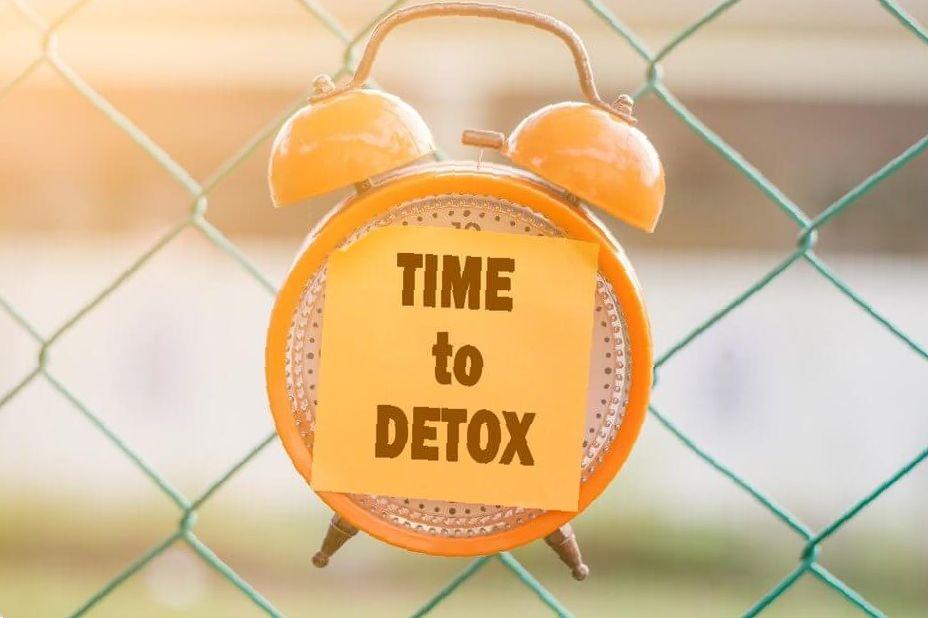 time to detox clock