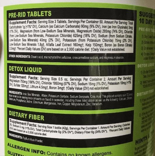 Toxin Rid Instructions
