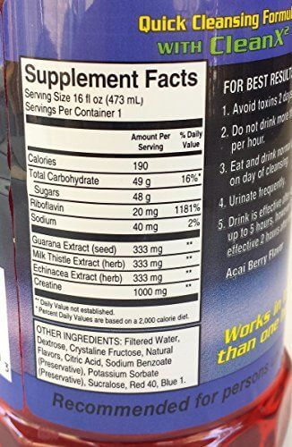 Champ Flush Out Detox Drink Supplement Facts