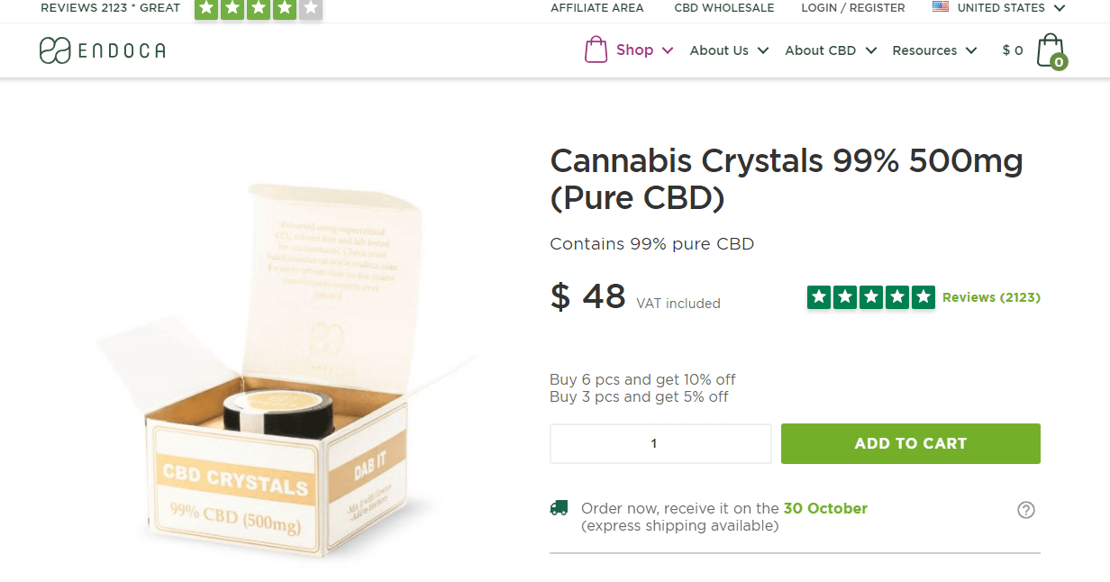 Cannabis crystals