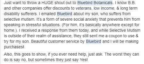 Bluebird Botanicals CBD Oil review