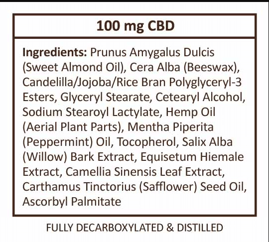 CBD Balm ingredients