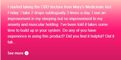 Mary's Medicinals CBD Oil review B