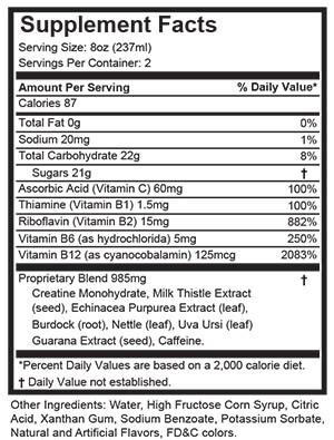 High Voltage Supplement Facts