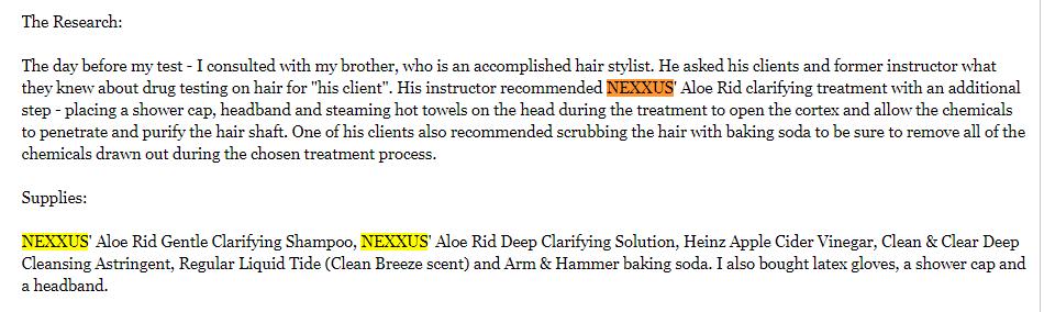 Nexxus Aloe Rid Shampoo Social Media Review