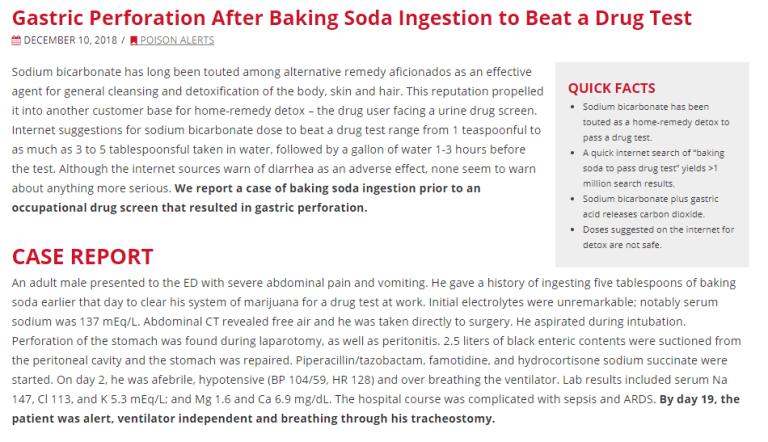 Dangerous baking soda case