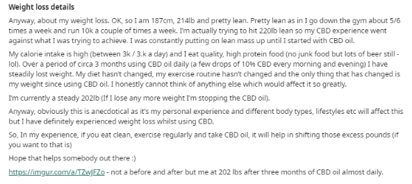 CBD Oil for Weight Loss - NCSM